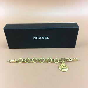Preowned Chanel Gold Médallion CC Charm Bracelet